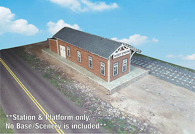 N Scale Building - Passenger Station (Cover Stock PRE-CUT Paper Kit) ST2 11