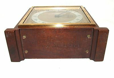 Large ELLIOTT LONDON Walnut Bracket Mantel Clock : H L BROWN & SON LTD SHEFFIELD 11