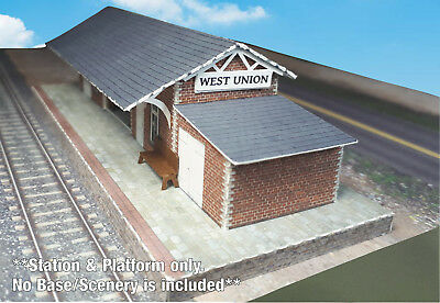N Scale Building - Passenger Station (Cover Stock PRE-CUT Paper Kit) ST2 9
