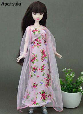 2pcs/set Fashion Clothes For Barbie Doll Dress Pajamas Lace Lingerie Sleepwear 2