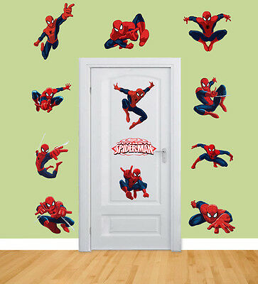 Fabulous Spiderman Stickers For Kids Room Wall Decor Spider Man Party Decoration Decals Home Interior And Landscaping Pimpapssignezvosmurscom