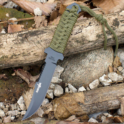 "7.5"" TACTICAL COMBAT BOWIE FIXED BLADE HUNTING KNIFE Throwing Survival Military 6"