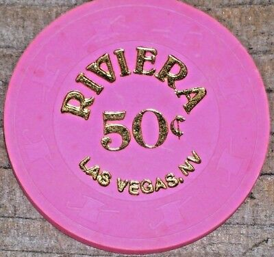 .50 Fractional Gaming Chip From The Riviera Casino Las Vegas Nv 2