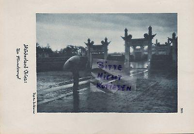 Werbung 1928 Bildnis Fotografien Märchenland China, H. v. Perckhammer 2
