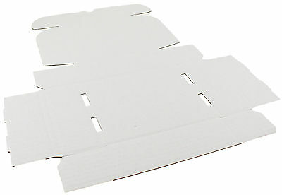 White Shipping Boxes Postal Mailing Gift Wedding Packet Small Parcel Cardboard 4