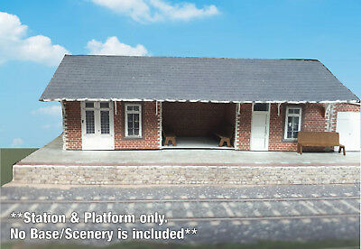 N Scale Building - Passenger Station (Cover Stock PRE-CUT Paper Kit) ST2 8