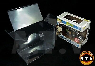 Vinyl Case Protector for  Funko Pop Rides Wolverine \ Daryl Dixon & Chopper  x 1 4