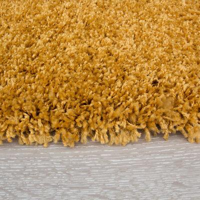 Soft Mustard Ochre Lemon Yellow Shaggy Rug Warm Thick Fluffy Living Room Rugs 4