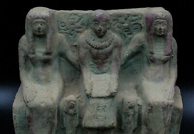 Unique EGYPTIAN ANTIQUE Priest Ptahmai Family Stela Relief Vintage made in egypt 4