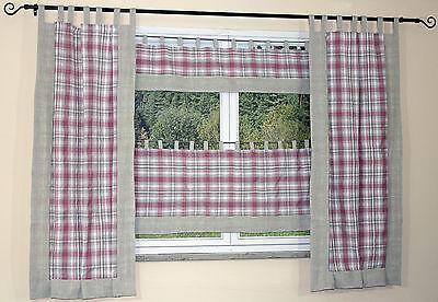 vorhang landhaus meterware panneaux seitenschals gardinen versch h hen neu eur 8 95. Black Bedroom Furniture Sets. Home Design Ideas