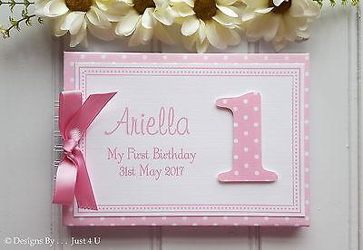 Personalised Babys 1st First Birthday Photo Scrapbook Album