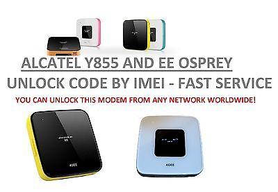 Unlock code for  4GEE WiFi Mini (Osprey 3) Alcatel EE40VB EE60VB EE70-2AE8GB3
