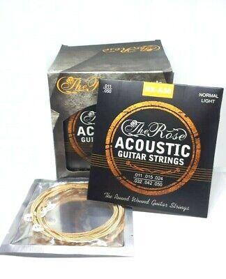 Gitarrensaiten Set für Akustikgitarren - Stahlsaiten 6x - The Rose + 3 Piks Free 4
