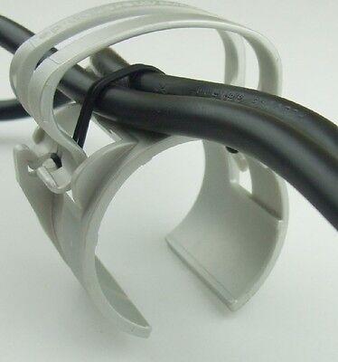 Gummiring 5x SNAP light Grau Kabel Halter Klammer Schelle für Traversen incl