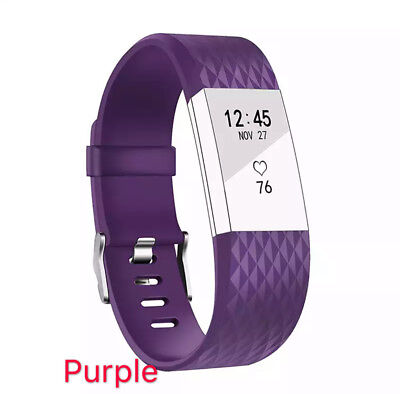 Replacement Fitbit Charge 2 Wristband Silicone Watch Wrist Sports Band Strap 6