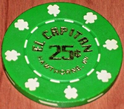 $ .25 Fractional Gaming Chip From The El Capitan Casino In Hawthorne, Nv 2