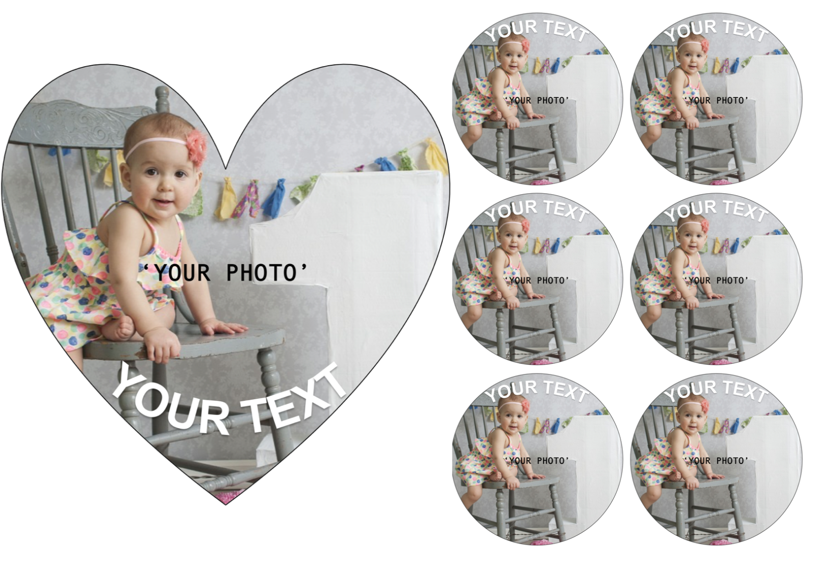 YOUR OWN EDIBLE PHOTO cake topper, personalised image, Quality ICING OR WAFER 4