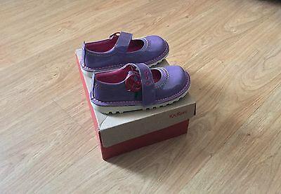 KICKERS Patent WET LOOK Purple/Lilac Uk 28 Kids 2