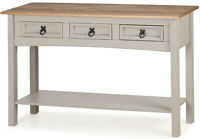 Corona Console Table 3 Drawer Grey Wax by Mercers Furniture® 4