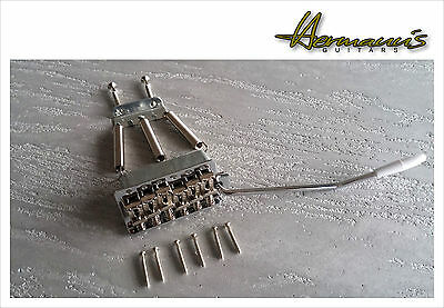 Vintage Stratocaster Guitar Bridge, Steel Saddles, Guitar Tremolo, Zinkblock 2