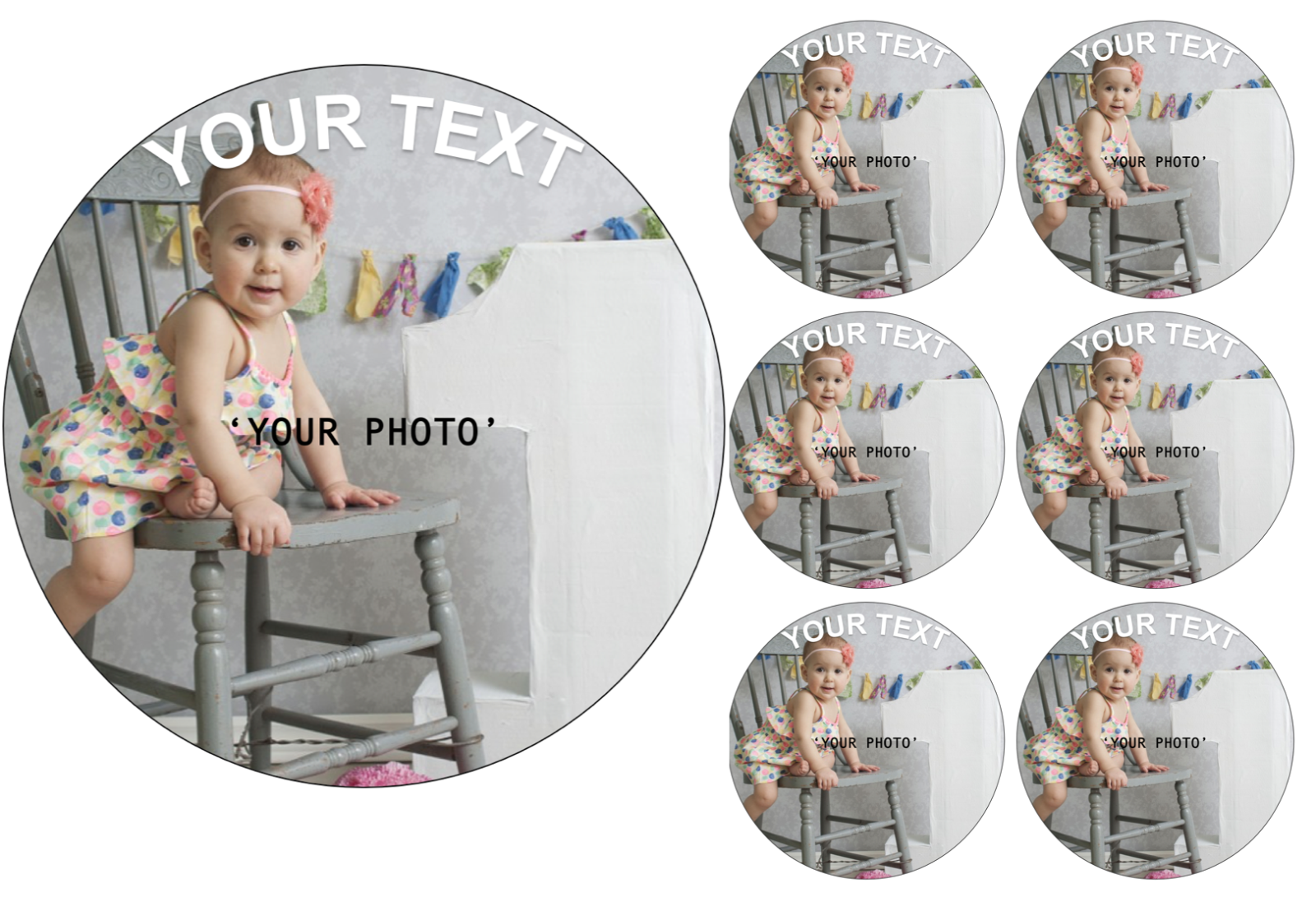 YOUR OWN EDIBLE PHOTO cake topper, personalised image, Quality ICING OR WAFER 6