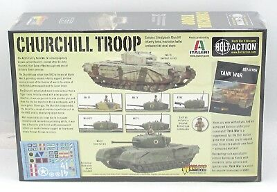 BOLT ACTION 402011001 Churchill Troop (British Army) WWII Infantry Tank  Platoon