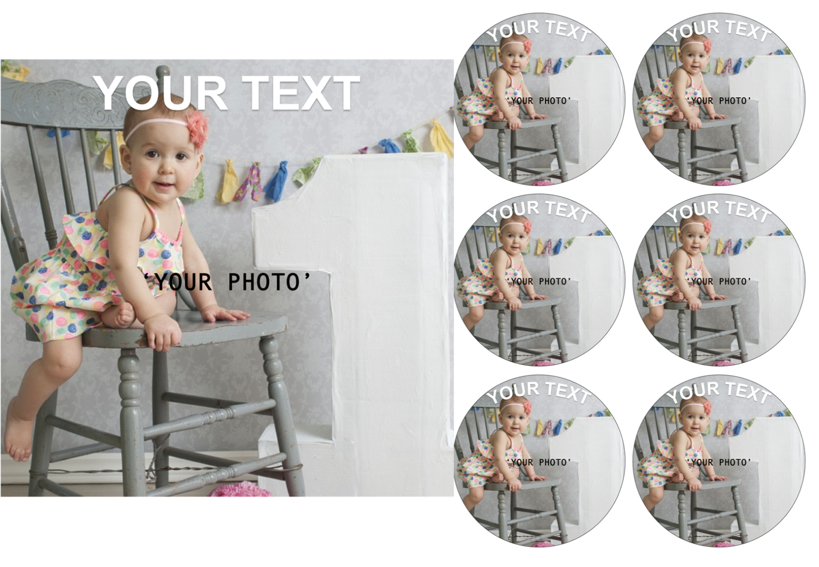 YOUR OWN EDIBLE PHOTO cake topper, personalised image, Quality ICING OR WAFER 5