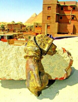 Vintage Egyptian cast Iron Hand Door Knocker Bell Rare hand Iron, 19th. #3 7