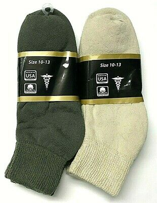 3 /6 /12 / Pair Non-Binding Top DIABETIC Colors Ankle Sock Size10-13 & 9-11 USA 4