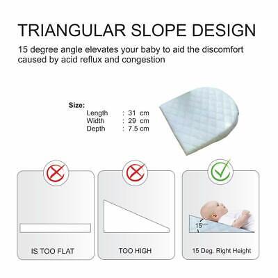 Baby Wedge Pillow Anti Reflux Colic Cushion For Pram Crib Cot Bed Flat Head Foam 3