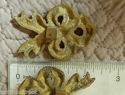 Antique Set Of 2 Gilded Bronze Knots Embrace Or Furniture Brackets  Louis Xvi 6