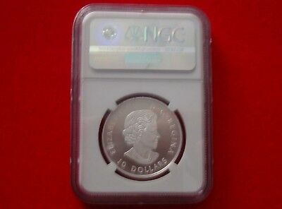 2017 CANADA $10 - Grizzly Bear - Fine Silver Coin - NGC PF 70 ULTRA CAMEO FR 4