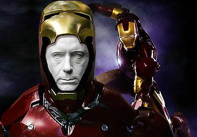 Robert Downey Jr Tony Stark Iron Man Life Mask Lifecast Hot Toys 6