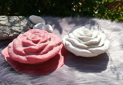 Handgemachte Latexgießform Gießform Betongießform für Beton Blüte Blume Rose 01