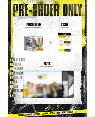 STRAY KIDS [I AM WHO] 2nd Mini Album RANDOM CD+PhotoBook+3p Card+Poster(On)+GIFT 8