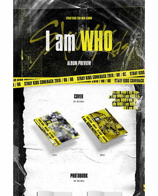STRAY KIDS [I AM WHO] 2nd Mini Album RANDOM CD+PhotoBook+3p Card+Poster(On)+GIFT 5