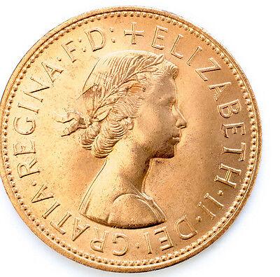 1953 To 1967 Elizabeth Ii Penny / Pennies Choice Of Year / Date 3