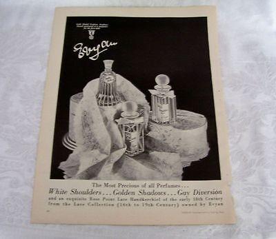 Vintage Perfume Bottles  Golden Shadows 1 oz made by Evyan Parfums 3