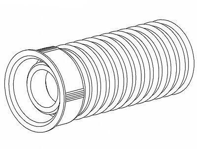 """Dallmer Gewindeverlängerung HL400 zu Unterputz-Sifon 1/"""" 77mm lang 140104"""