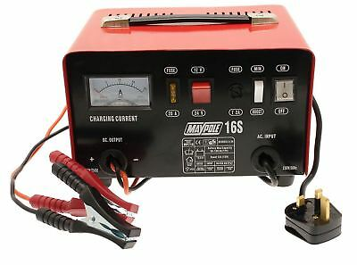 New Maypole MP716 12A Metal Battery Charger 12/24V Fast/Boost Mode Robust Steel 5