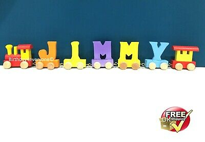 Personalized Letter Name wooden Train Birthday New Year Christmas Gift Toy 11