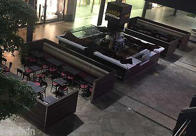 Komplette Einrichtung Eiscafe Ausstattung Stühle Tische Bänke Cafe