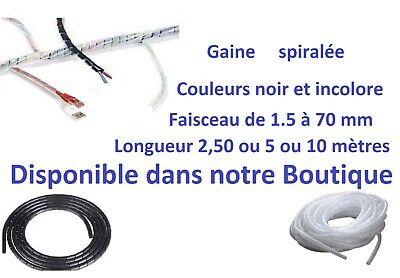 Gaine annelée fendue protection fils et câbles Ø intérieur de 6 à 28 mm au mètre 8