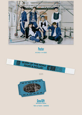 NCT DREAM RELOAD 4th Mini Album CD+POSTER+Book+F.Poster(On)+2Card+GIFT 10