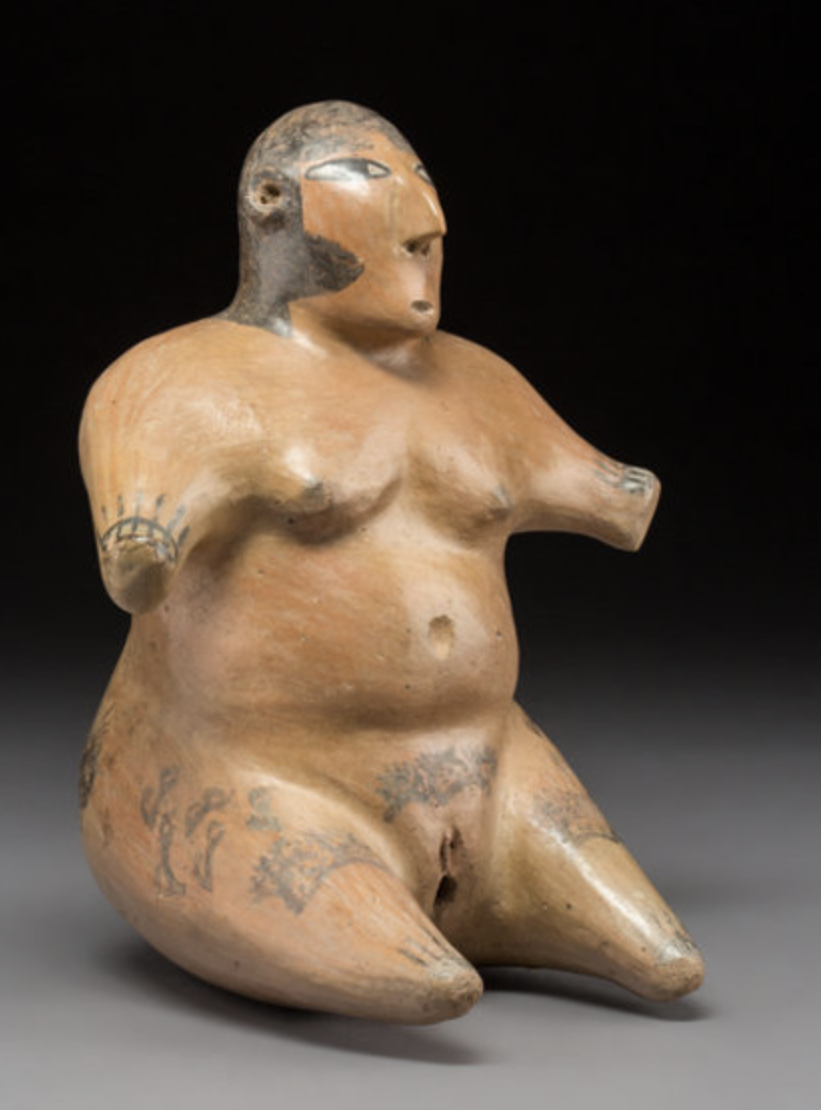 A Rare and Impressive Large Nazca Figure Pre Columbian Art Peru 3