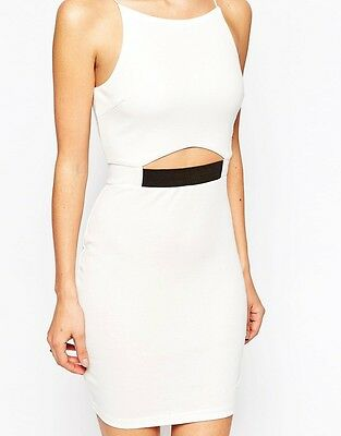 F01 New Womens Ladies Cut Out Bell Sleeve Bodycon Going Out Party Dresses 08-16