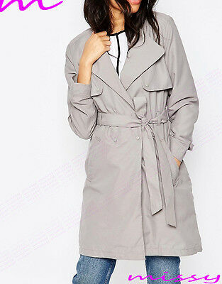 70b9af407d08c ... Women s CANVAS MAC Size 8 10 12 14 16 Ladies TRENCH JACKET COAT camel  and grey