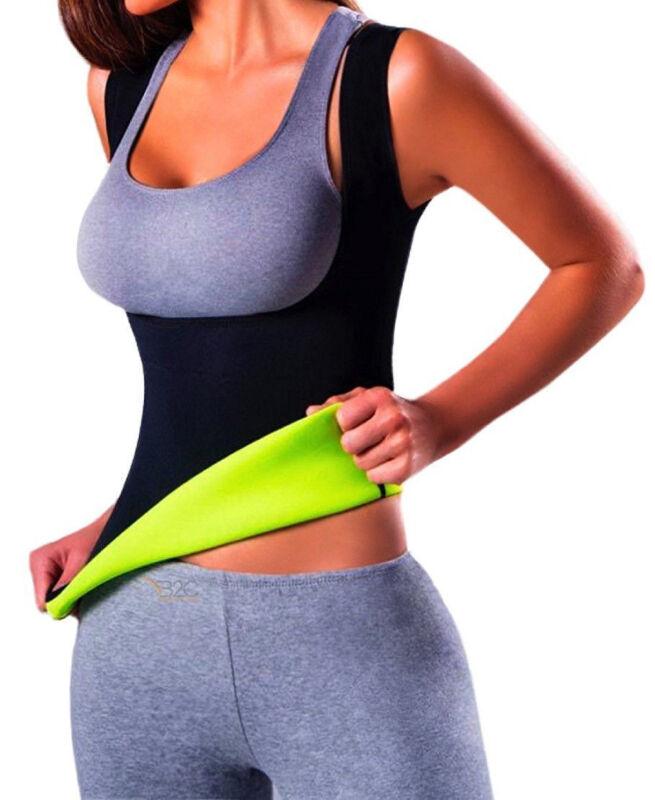 Men Neoprene Vest Cami Hot Shaper Gym Women Sauna Sweat Thermal Tank Top Girdles 10