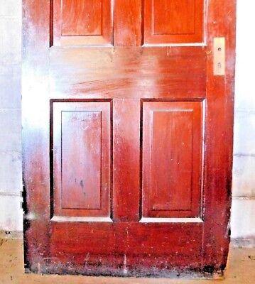 Antique Victorian Style Interior Door - Circa 1895 Fir Architectural Salvage