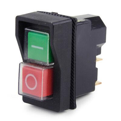 IP55 KJD17 KLD28 4 Pin Start Stop On Off Volt Release Switch 250V Interrupteur 3